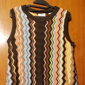 Missoni Brown Chevron Sleeveless Dress